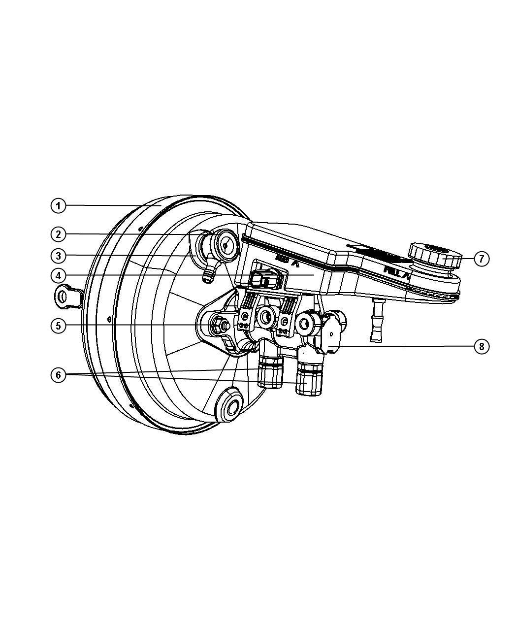 Chrysler Sebring Hose Vacuum Supply
