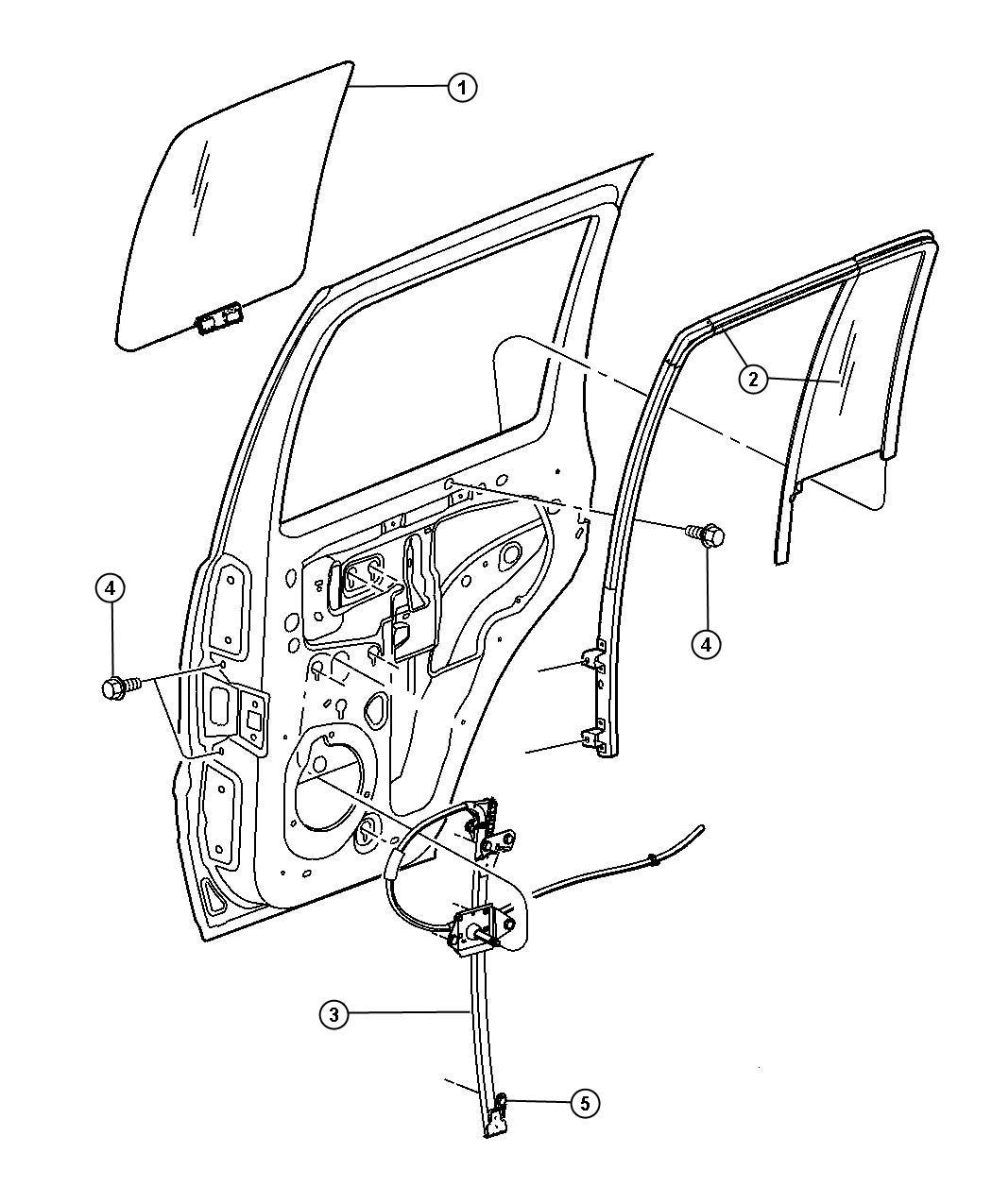Chrysler Sebring Door Parts Diagram