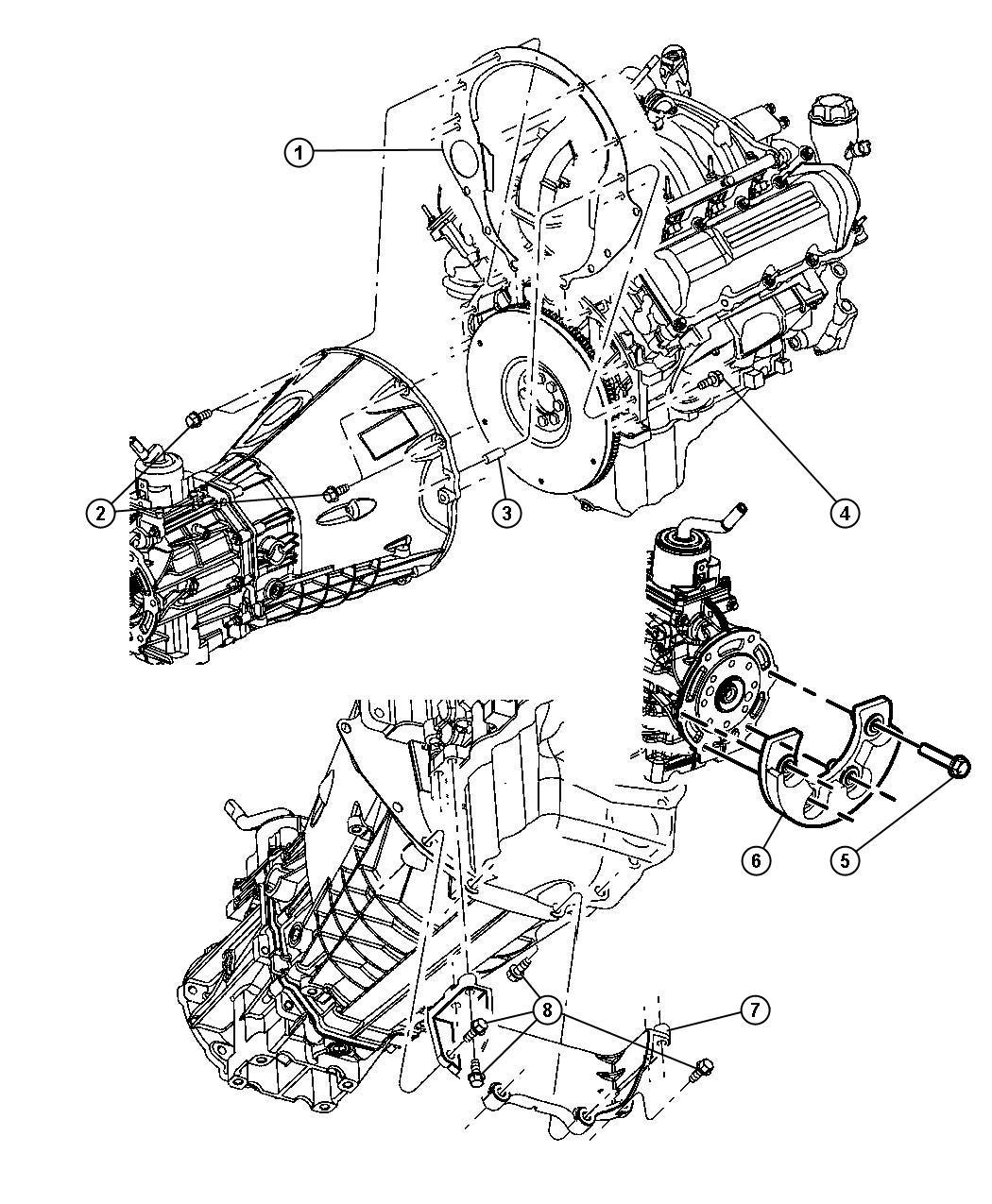 Dodge Nitro Dowel Block To Clutch Housing 1 2x3 4