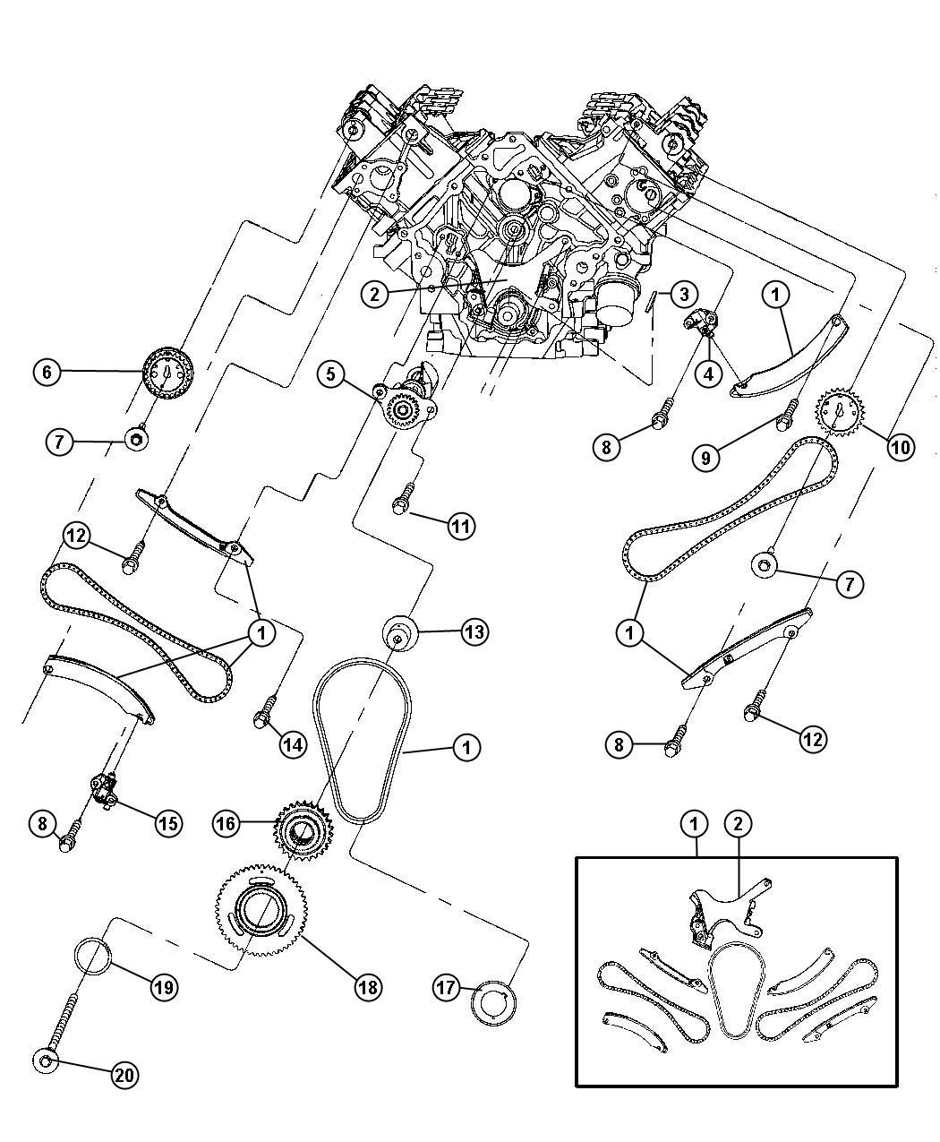 Dodge Ram Sprocket Camshaft Right Gascng
