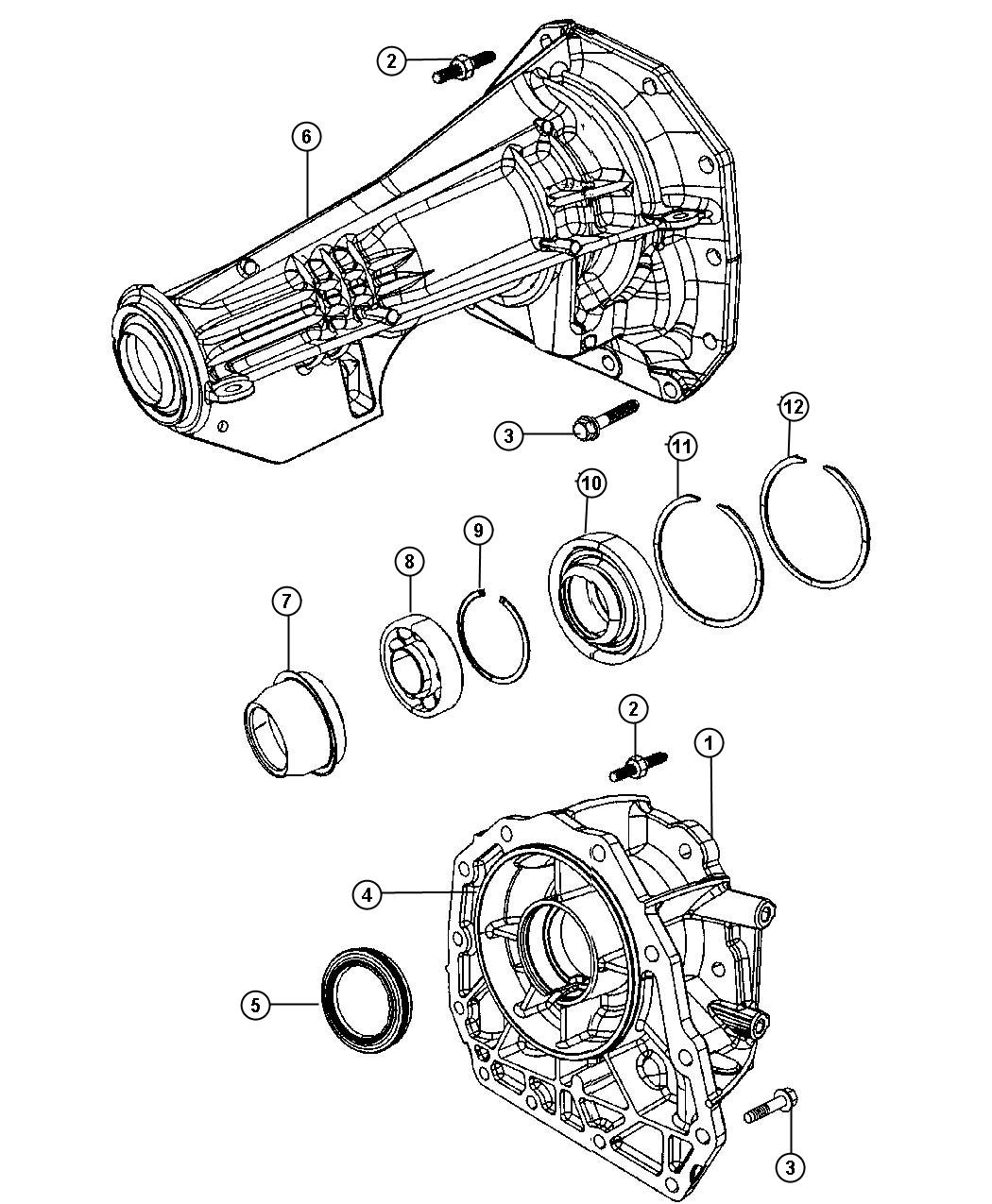 Dodge Adapter Transfer Case Transmissionmultispeed
