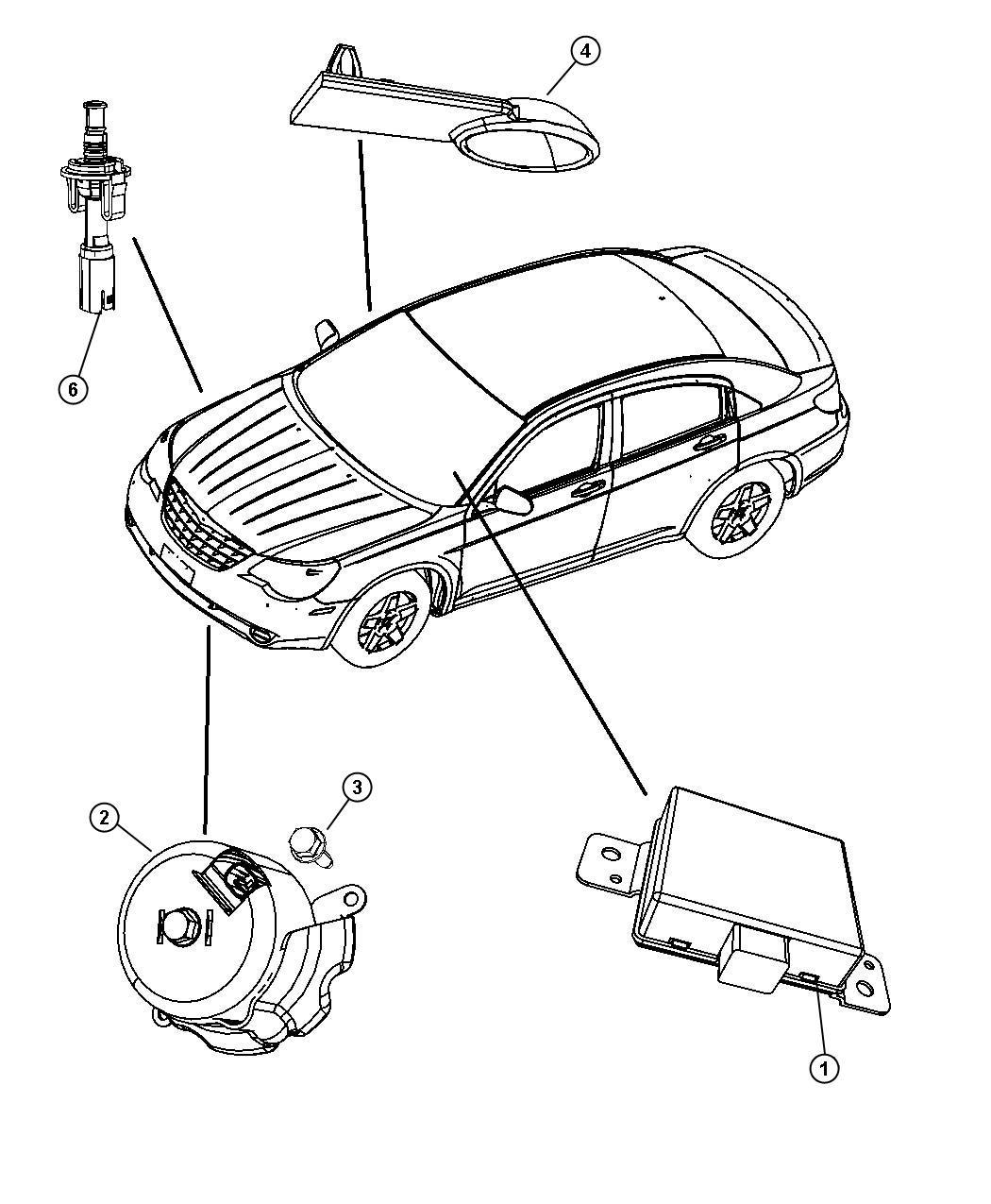 Chrysler Sebring Siren Alarm Premium Security Alarm
