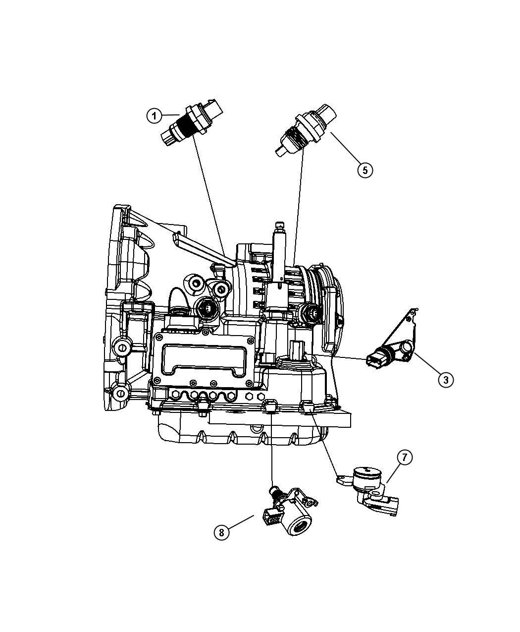 Dodge Challenger Gt Sensor Trans Pressure Transducer