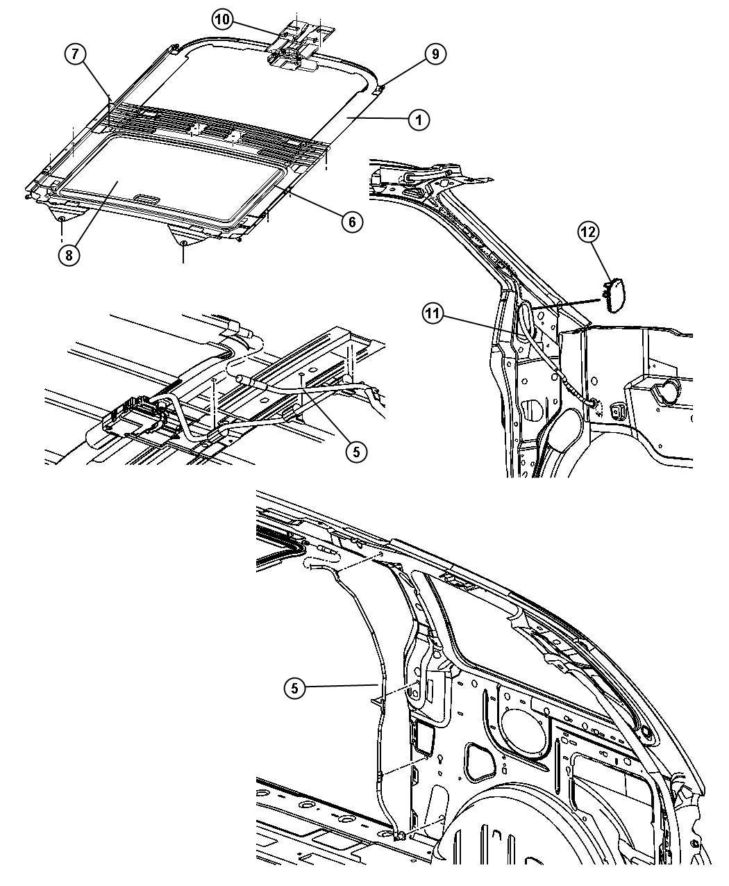 Dodge Caravan Sunshade Sunroof Trim All Trim Codes
