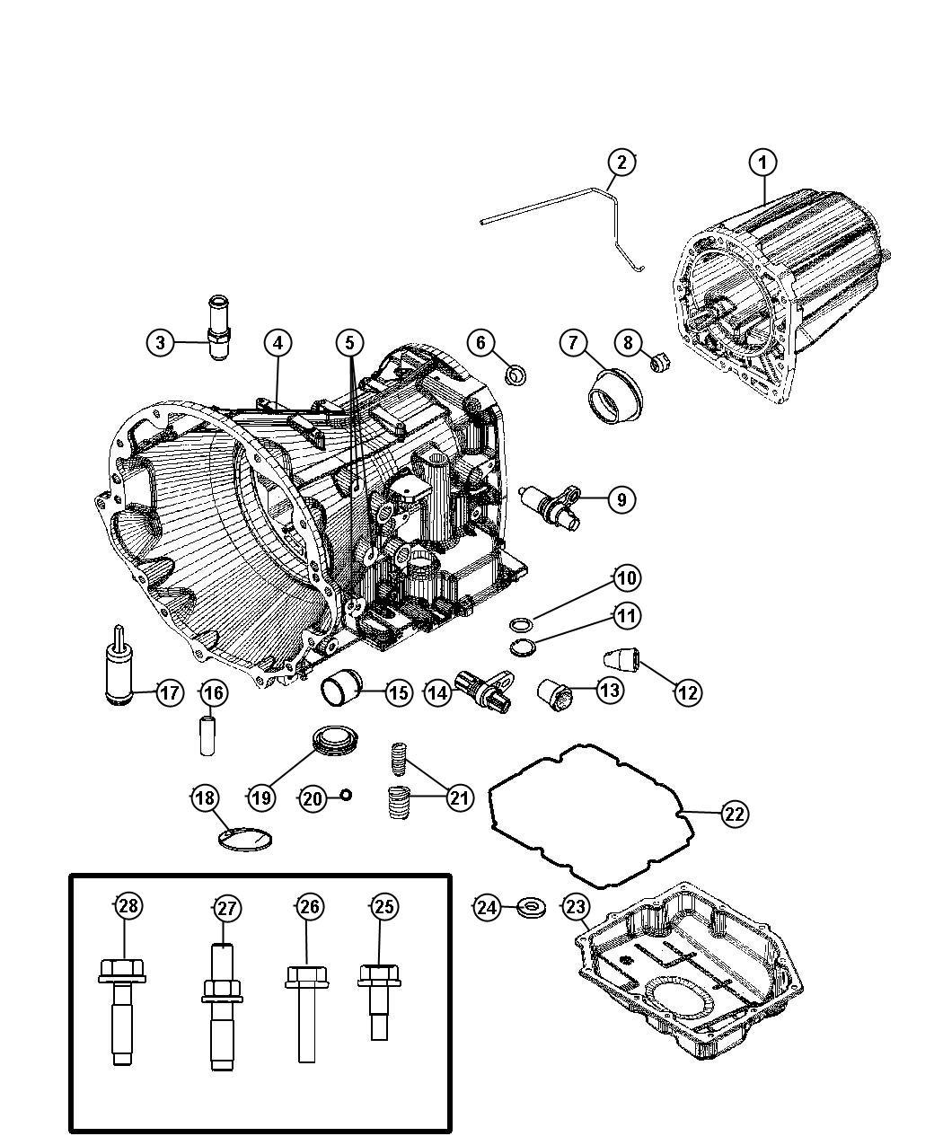 Dodge Nitro Pan Transmission Oil Filters