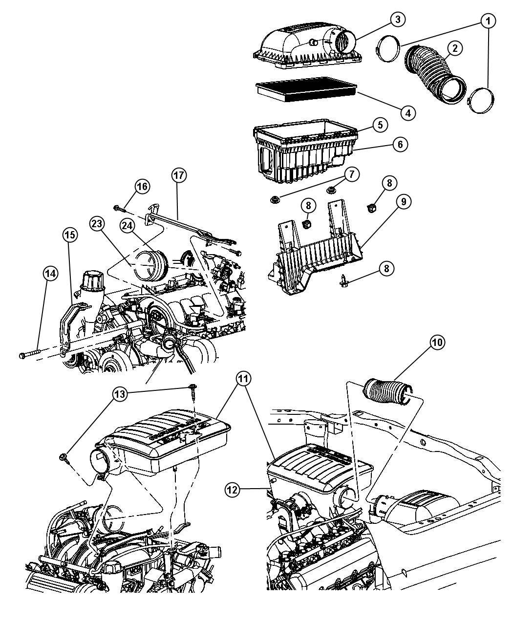 Dodge Ram Seal Throttle Body To Intake Throttle