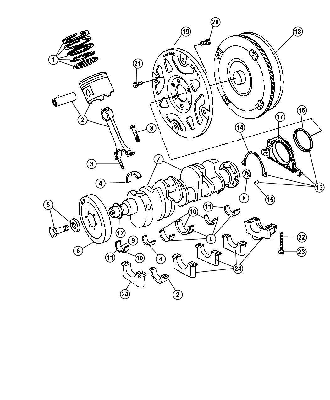 Dodge Bolt Screw Connecting Rod Hex Flange Head
