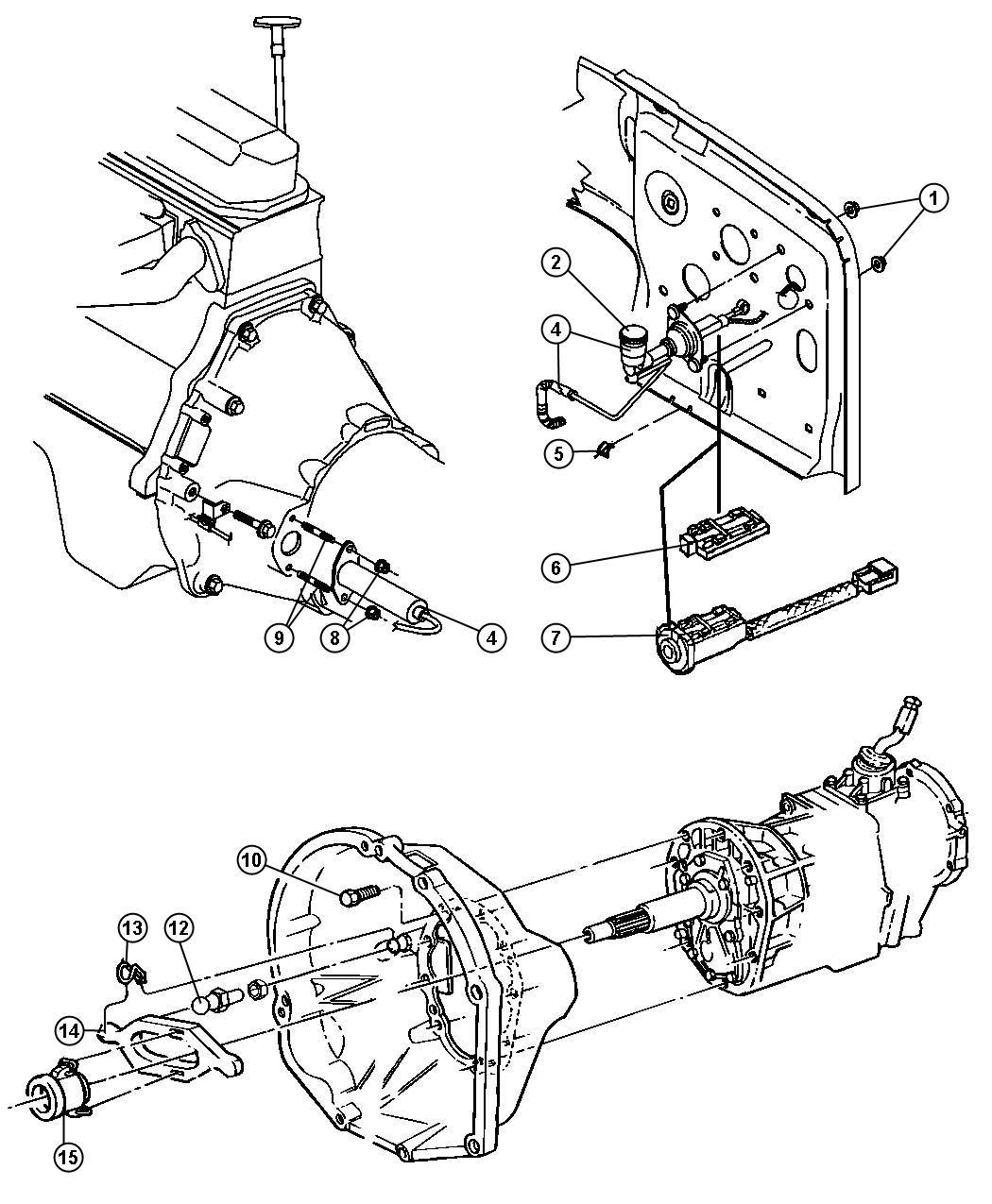 Dodge Dakota Clip Mounting Controlshydraulic