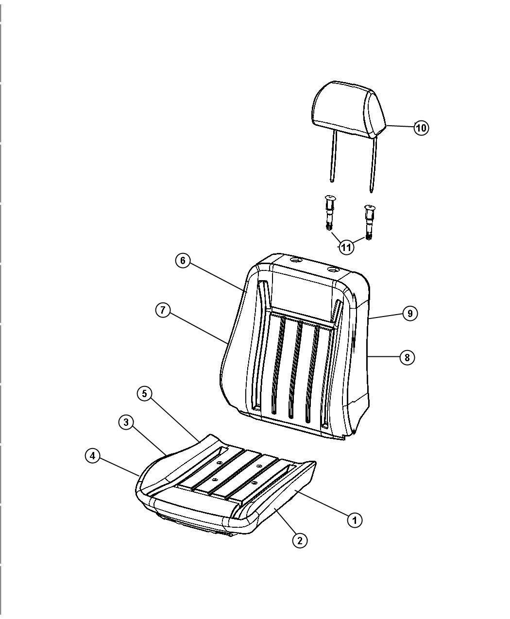 Dodge Magnum Sleeve Headrest Non Locking Slave Cylinder