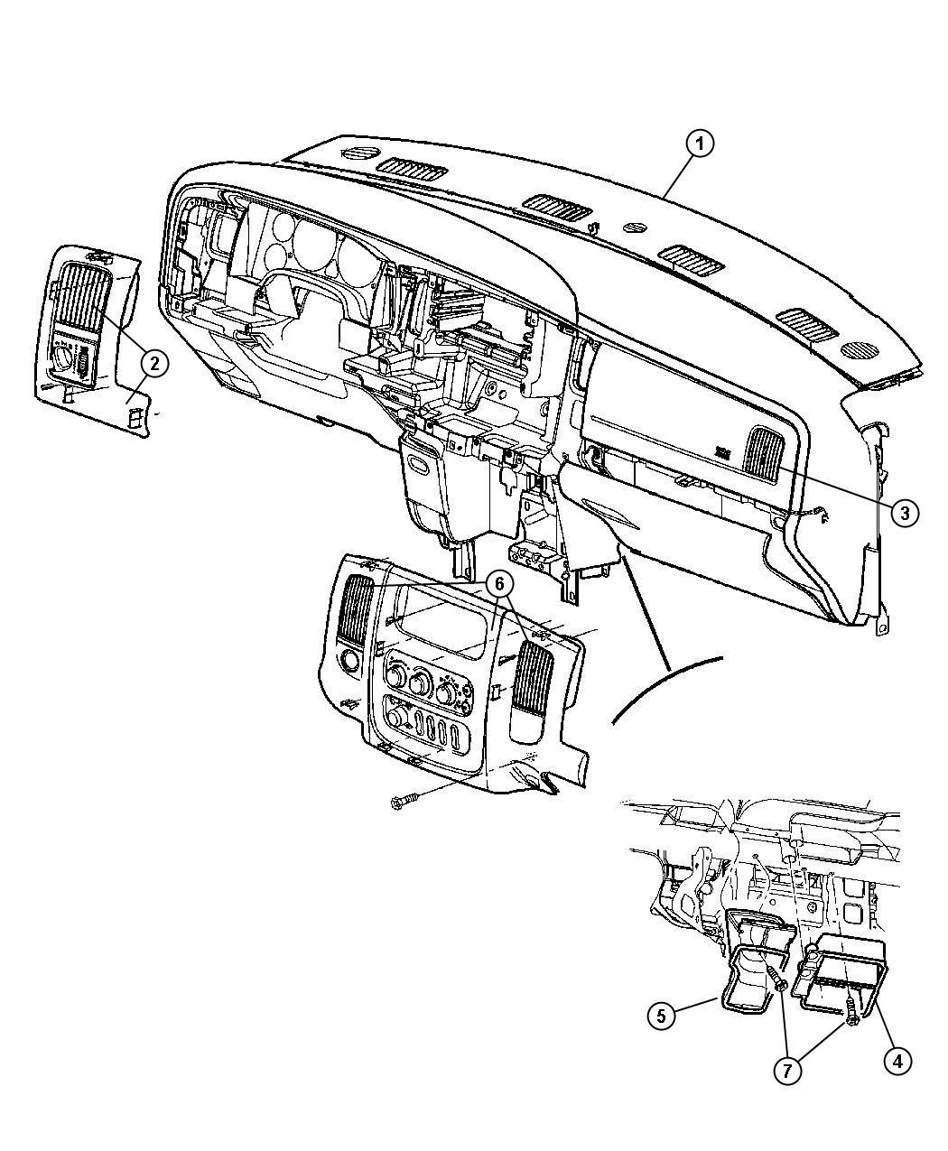 Dodge Ram Cover Instrument Panel Med Slate Gray