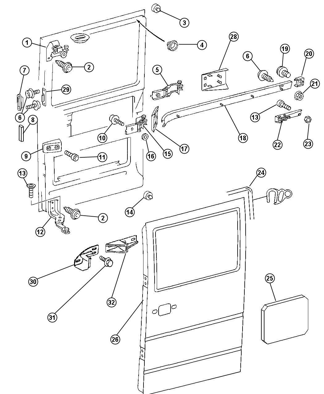 Sliding Door Parts Dodge Sliding Door Parts
