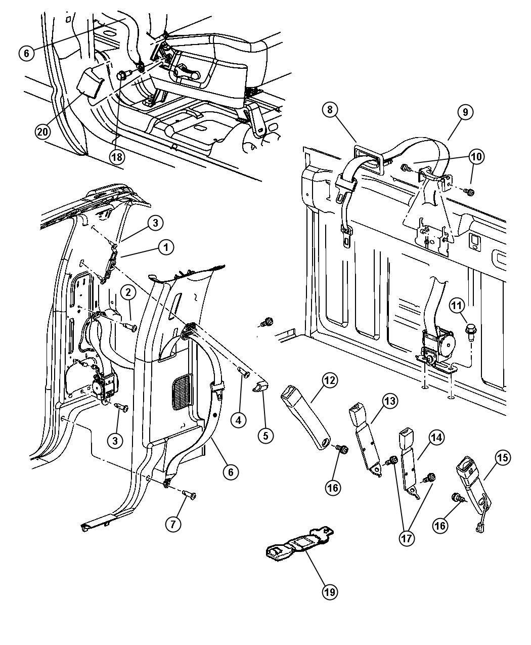 Dodge Ram Bezel Seat Belt D5 Trim All Trim