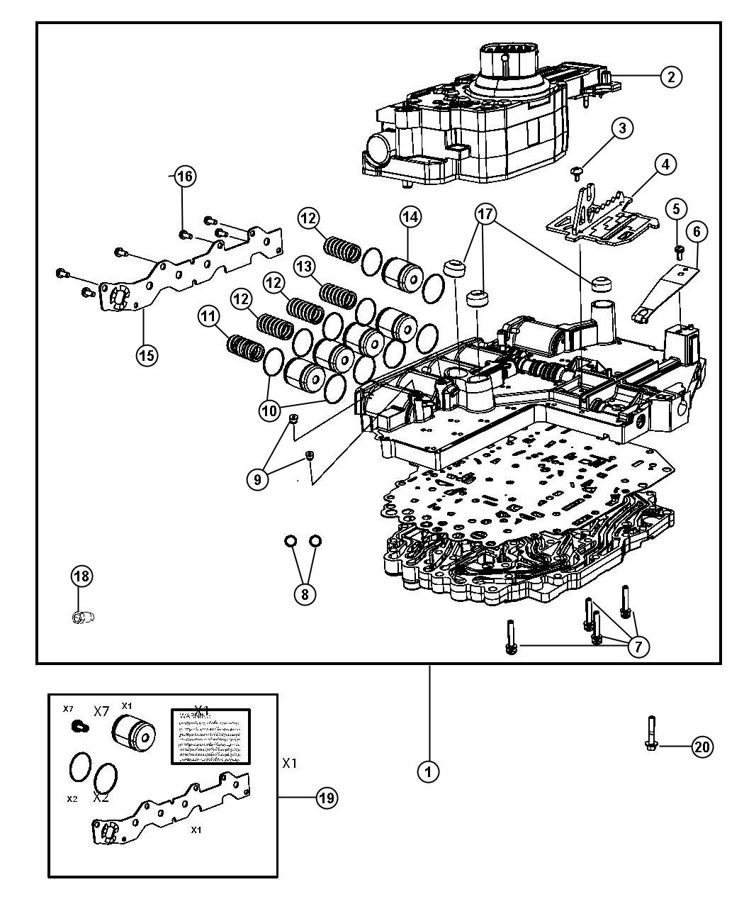 Dodge Ram Valve Body Assembly Remanufactured