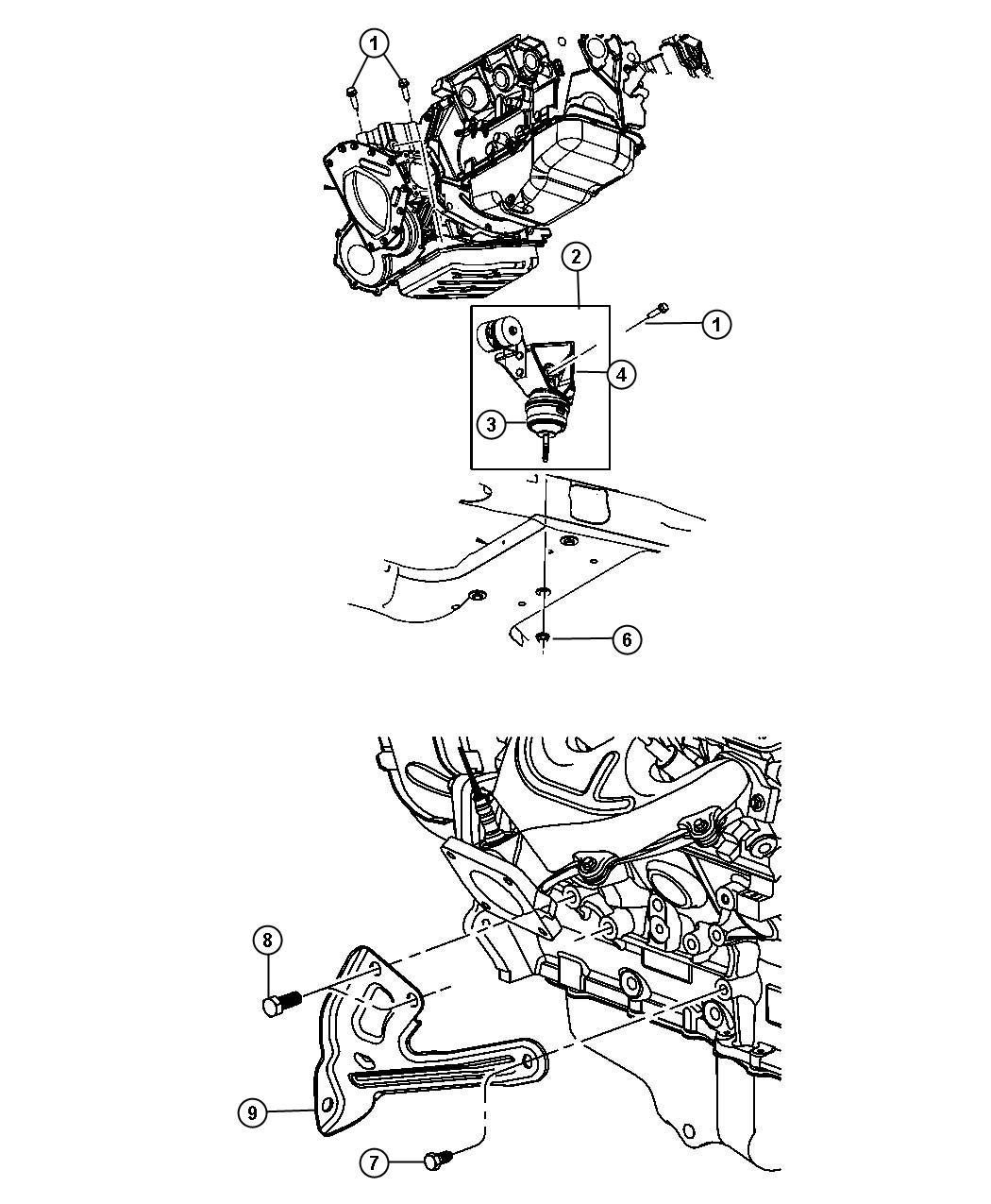 Chrysler Pacifica Bracket Engine Mount Rear
