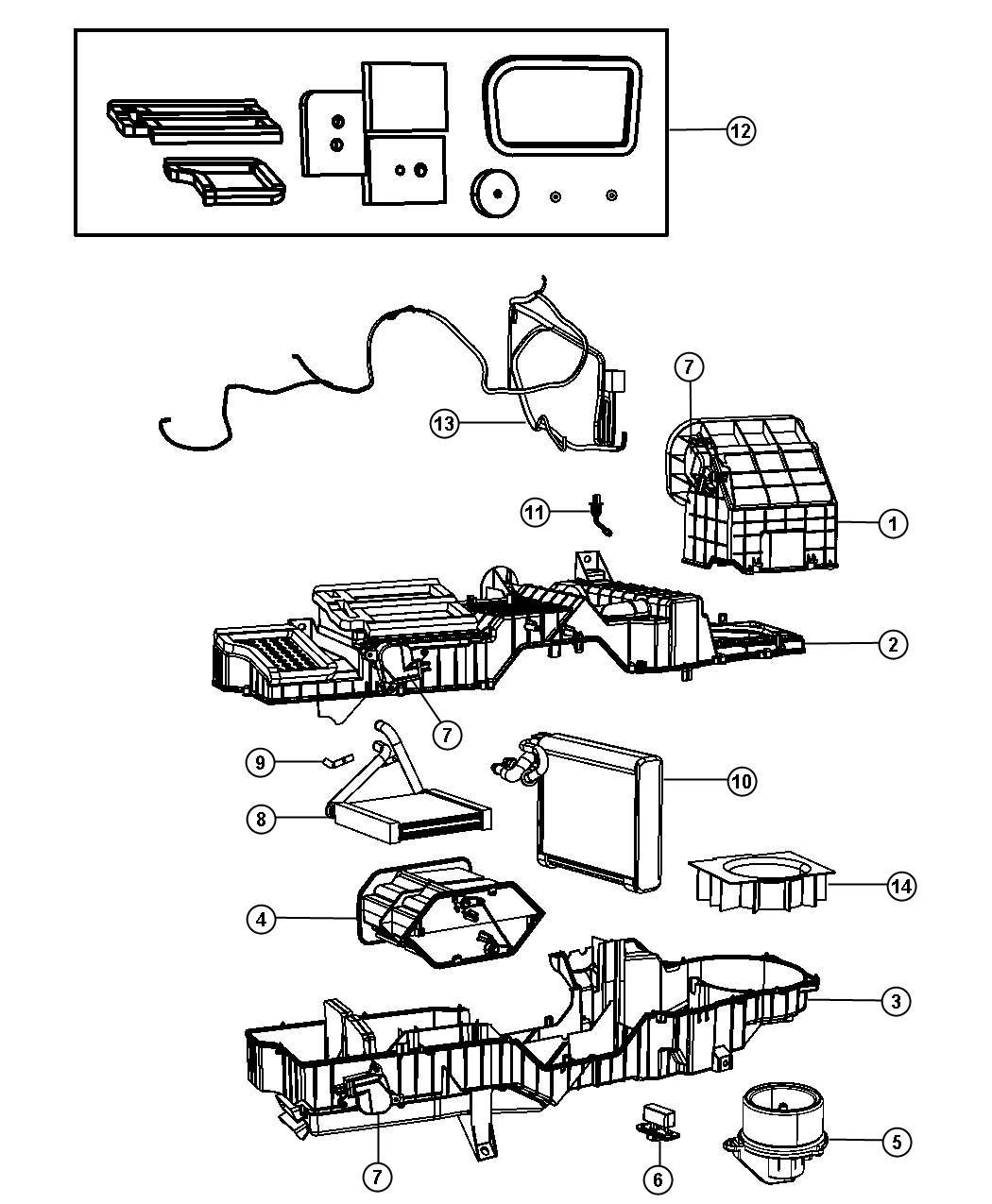 Jeep Patriot Actuator Servo A C Temperature Door