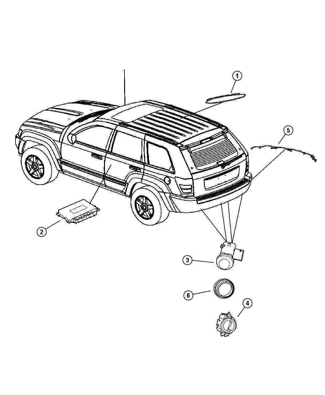 Jeep Grand Cherokee Module Parking Assist Parksense