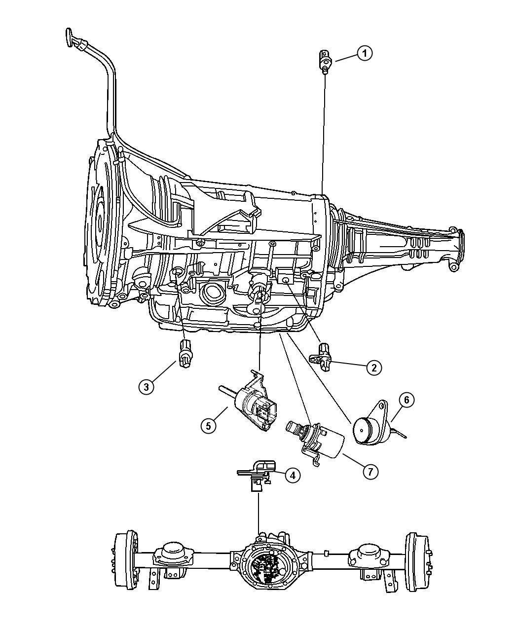 Jeep Wrangler Sensor Solenoid Trans Variable Force
