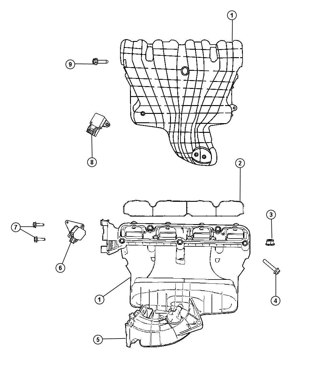 Jeep Patriot Manifold Intake Flow Ecn Eba