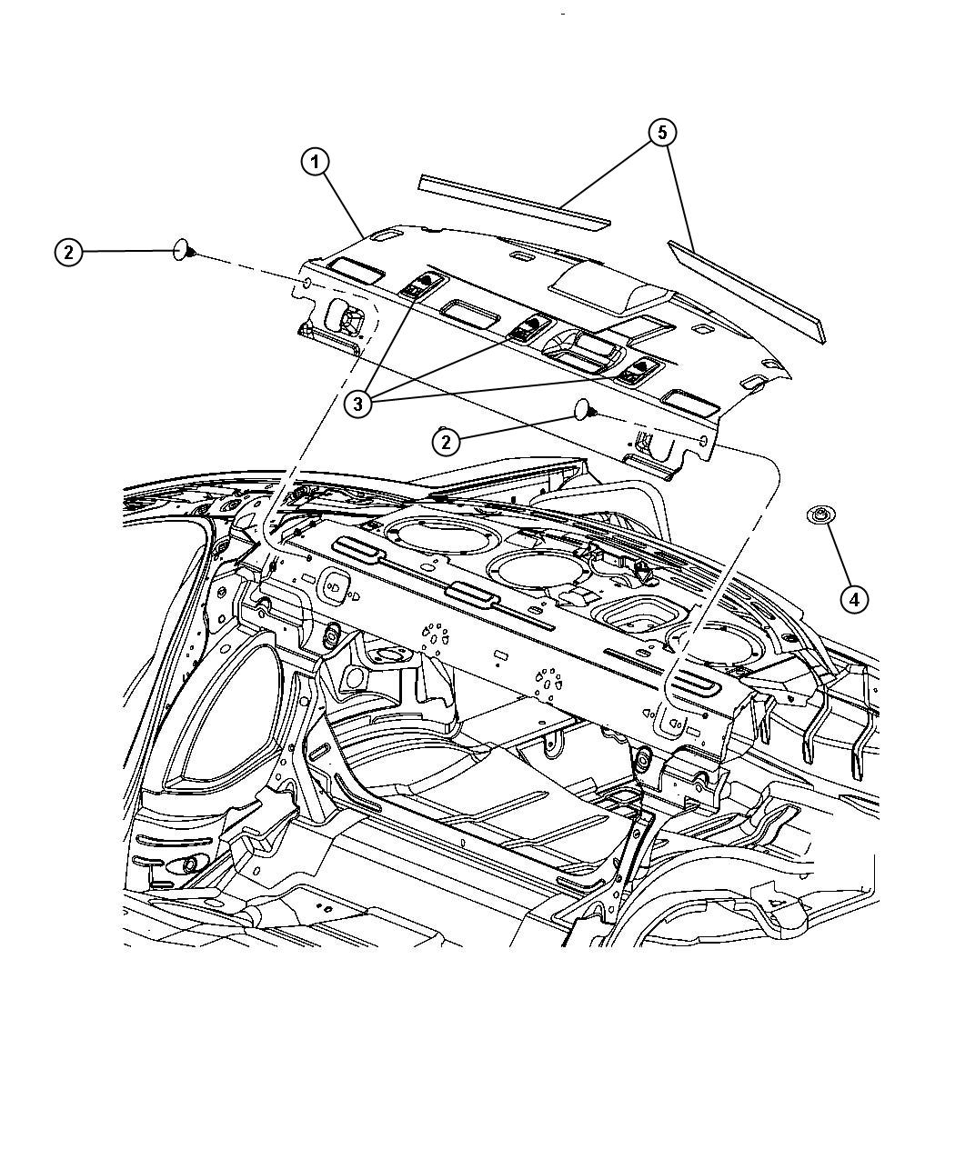 Dodge Magnum Panel Rear Shelf Db Db Rear 60 40