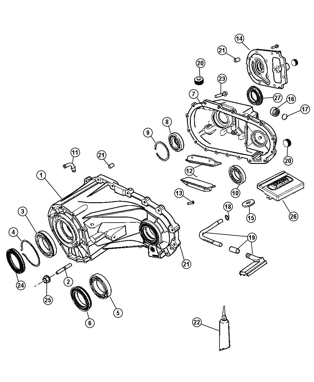 Jeep Liberty Module Transfer Case Control Up To 05 14