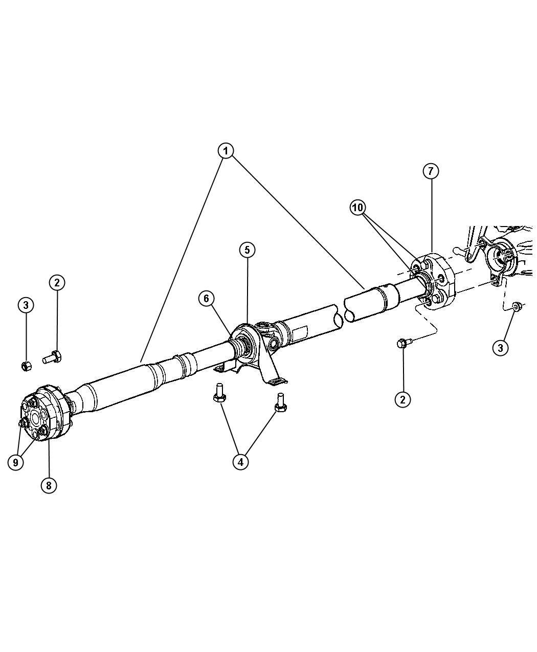 Dodge Magnum Bolt Kit Mounting Rear Drd Eeo
