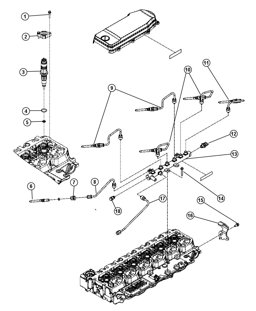 Dodge Ram Tube Fuel Injector Supply