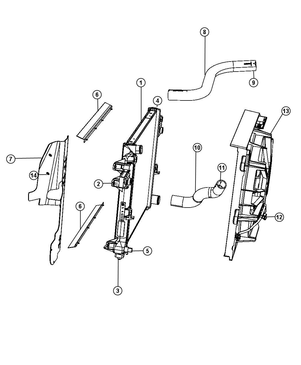 Jeep Commander Clamp Hose Hose To Radiator Inlet
