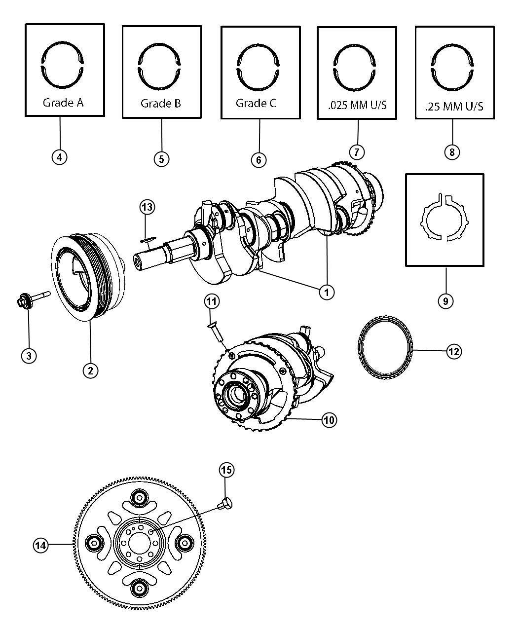 Dodge Bearing Kit Bearing Package Crankshaft A
