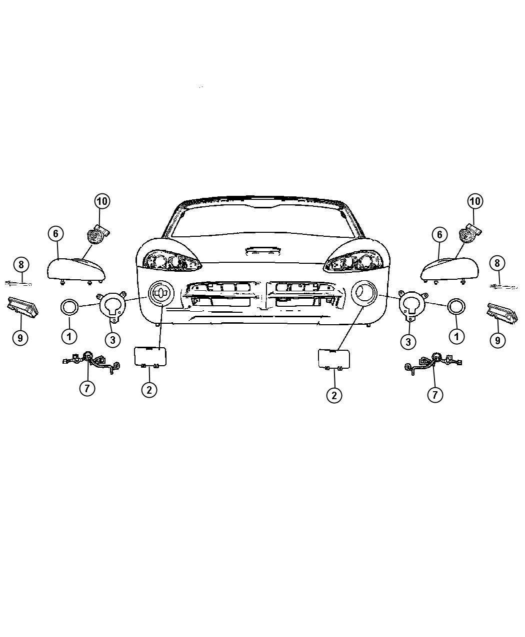 Dodge Lamp Front Fog