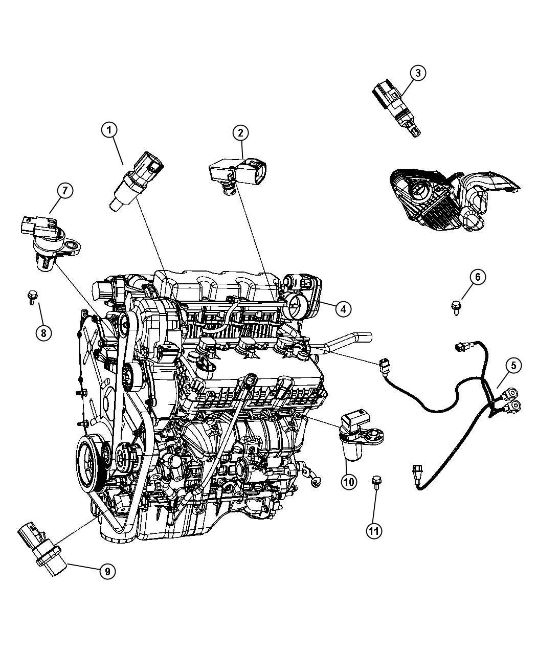 Dodge Avenger Sensor Map