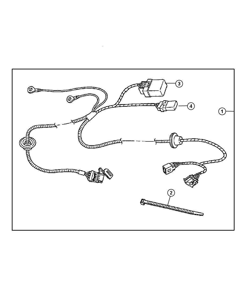 Dodge Magnum Wiring Kit Trailer Tow