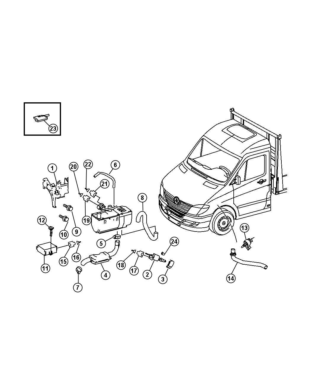 Dodge Sprinter Remote Radio With Remote Control For Aux