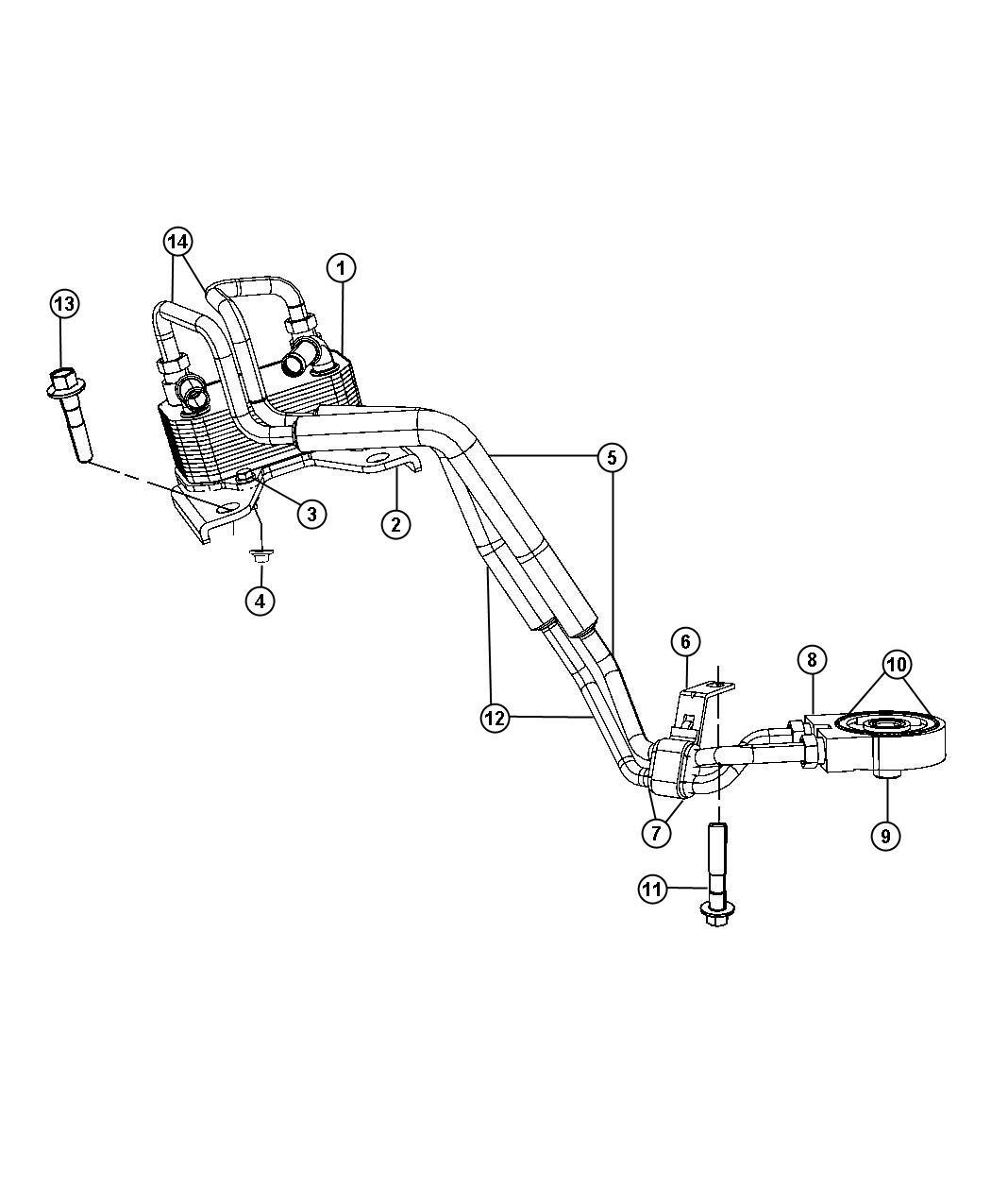 Chrysler Sebring Seal Engine Oil Cooler Coolerpower