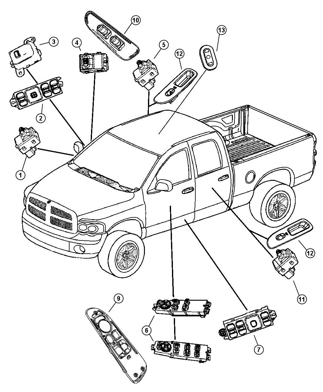 Toyota 4runner Body Parts Diagram