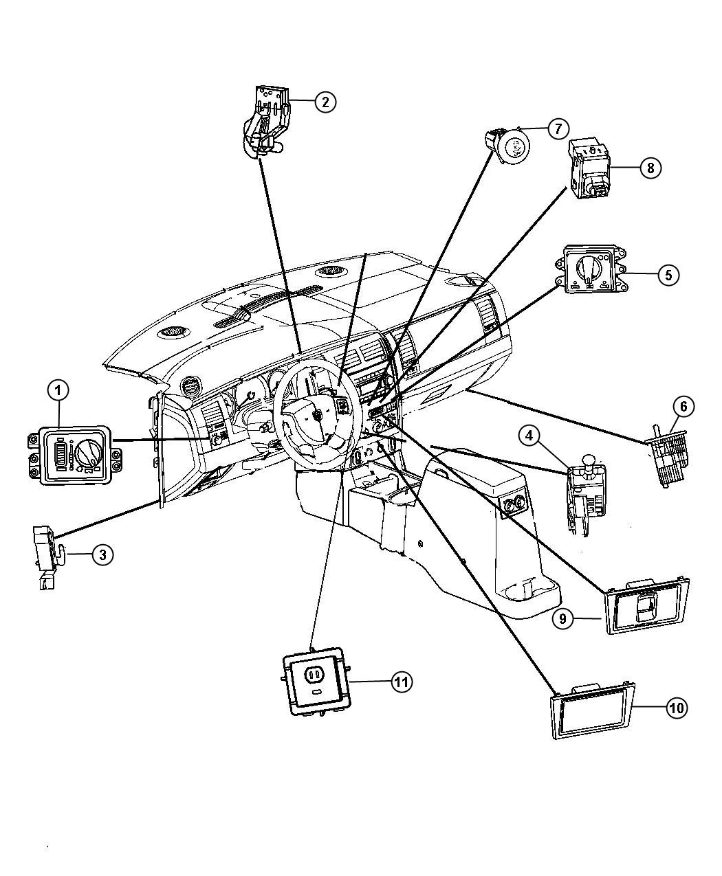 Chrysler Aspen Switches Instrument Panel