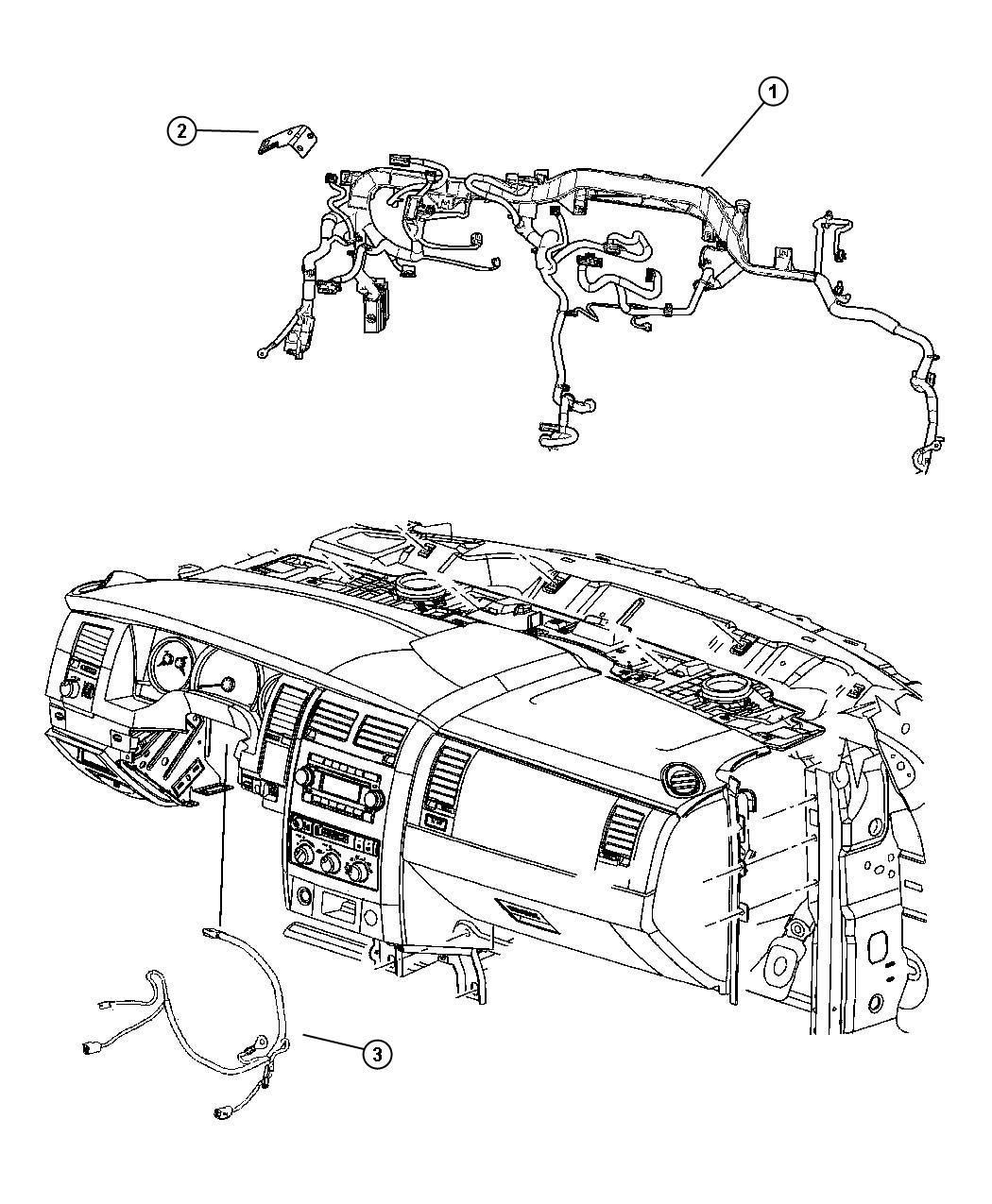 Dodge Durango Wiring Instrument Panel Rear Air