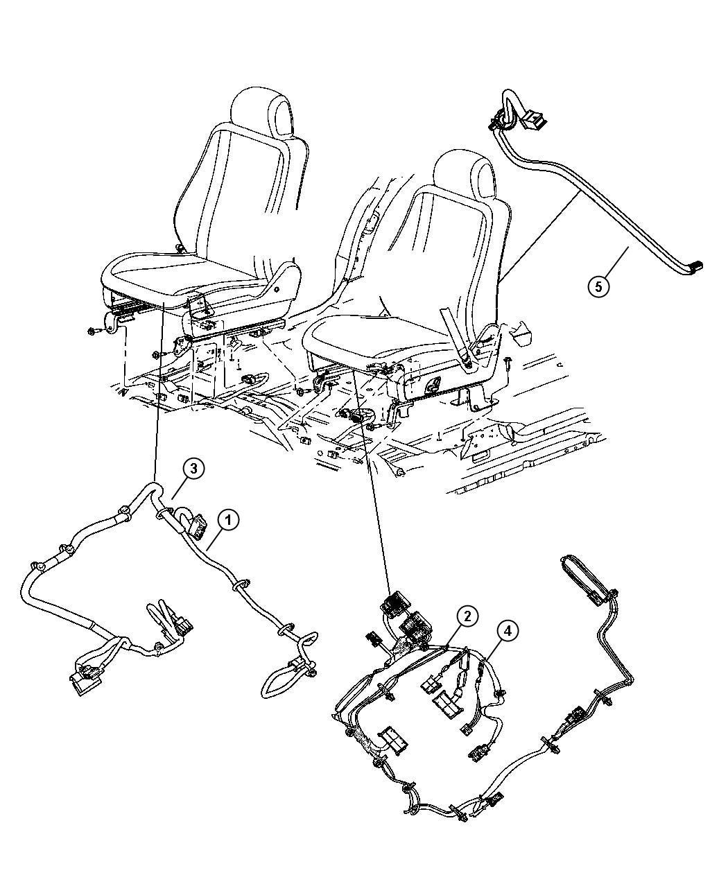 Dodge Durango Wiring Seat Export Right 2 Way Manual 2
