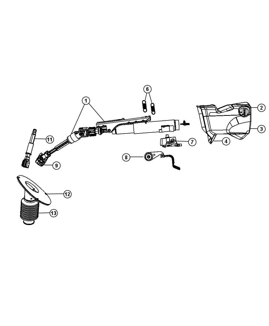 Chrysler Town Amp Country Column Steering Export