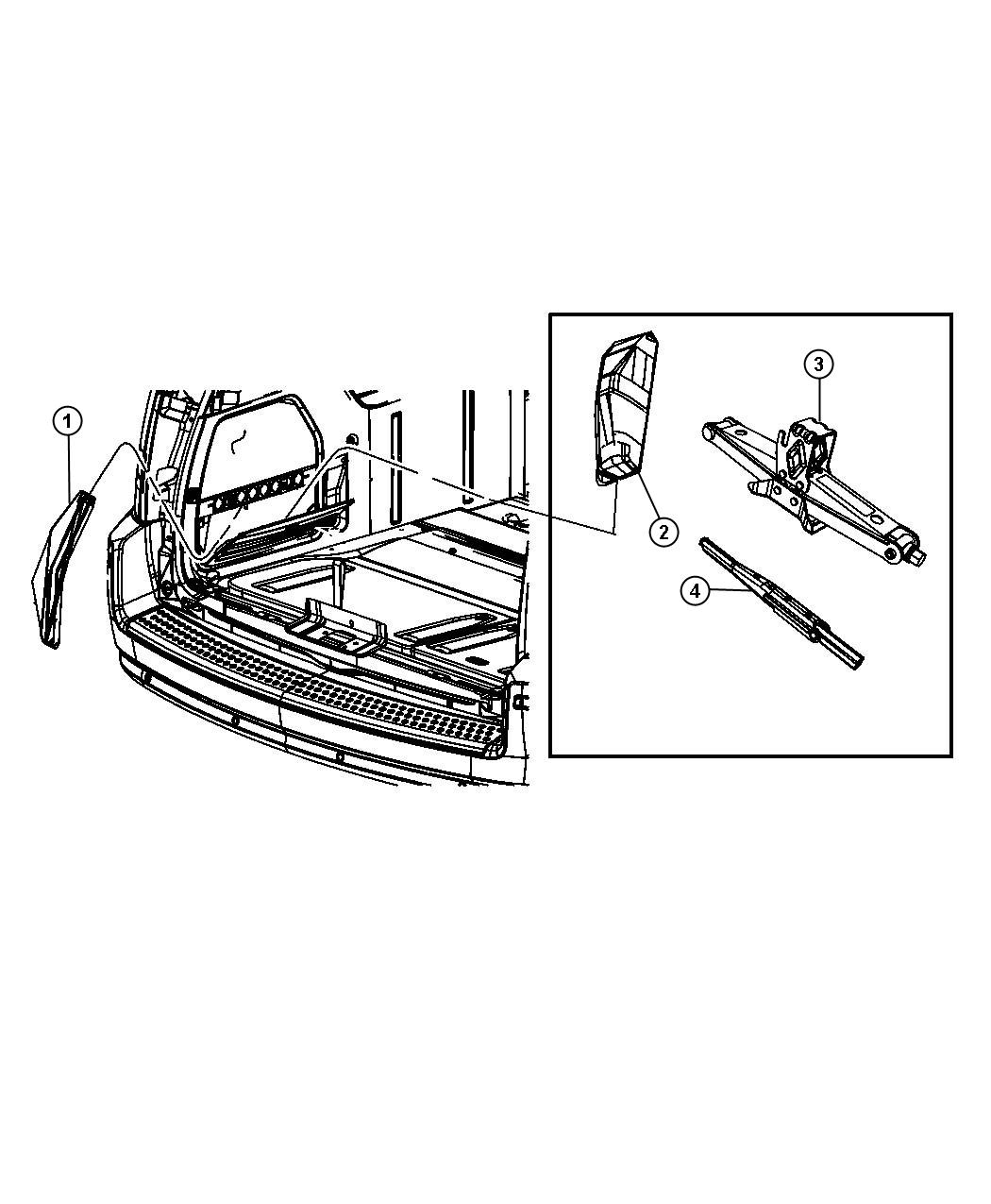 Dodge Grand Caravan Jack Scissors Tbt Or Compact
