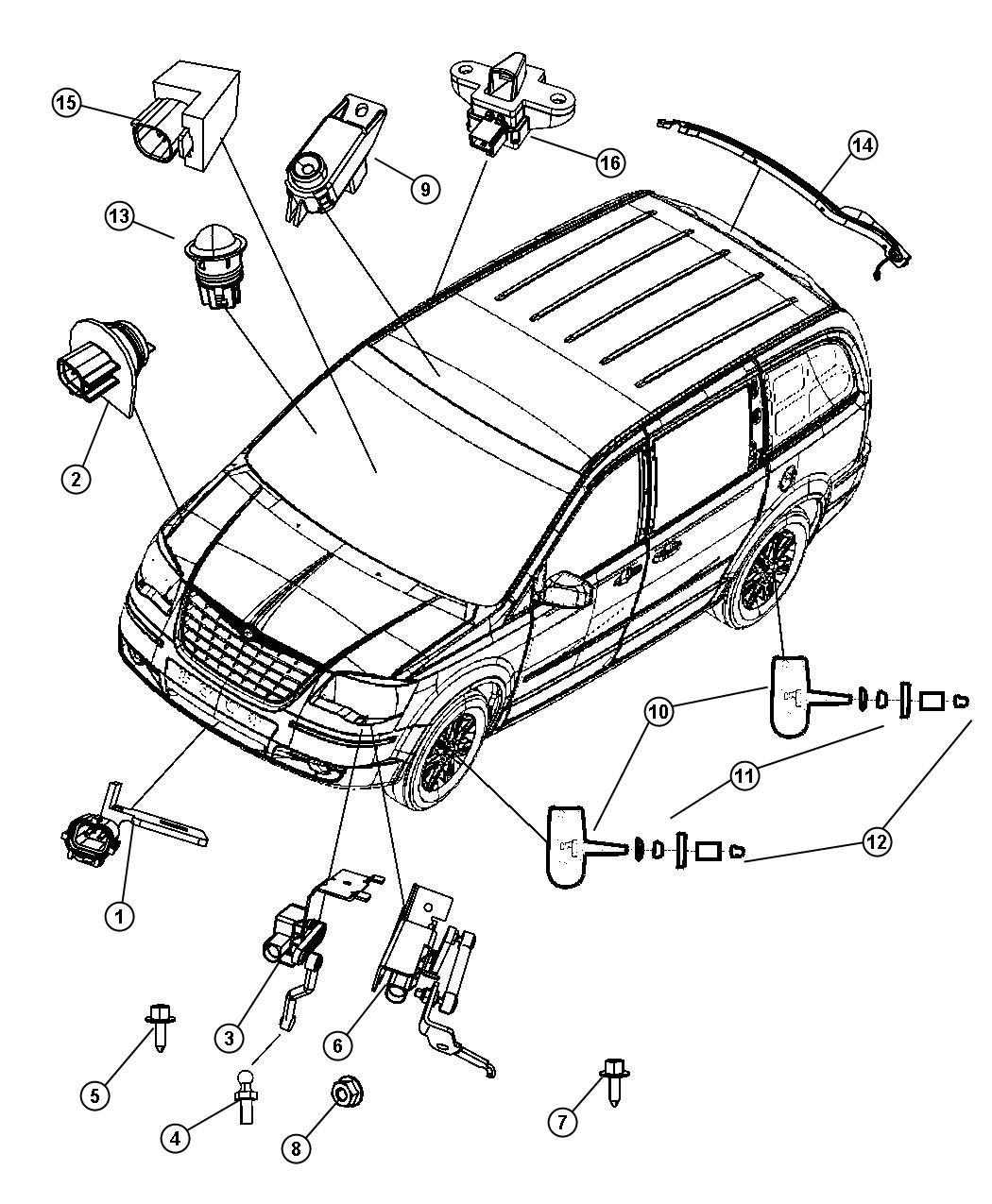 Dodge Grand Caravan Se 3 3l V6 Sensor Sensor Kit