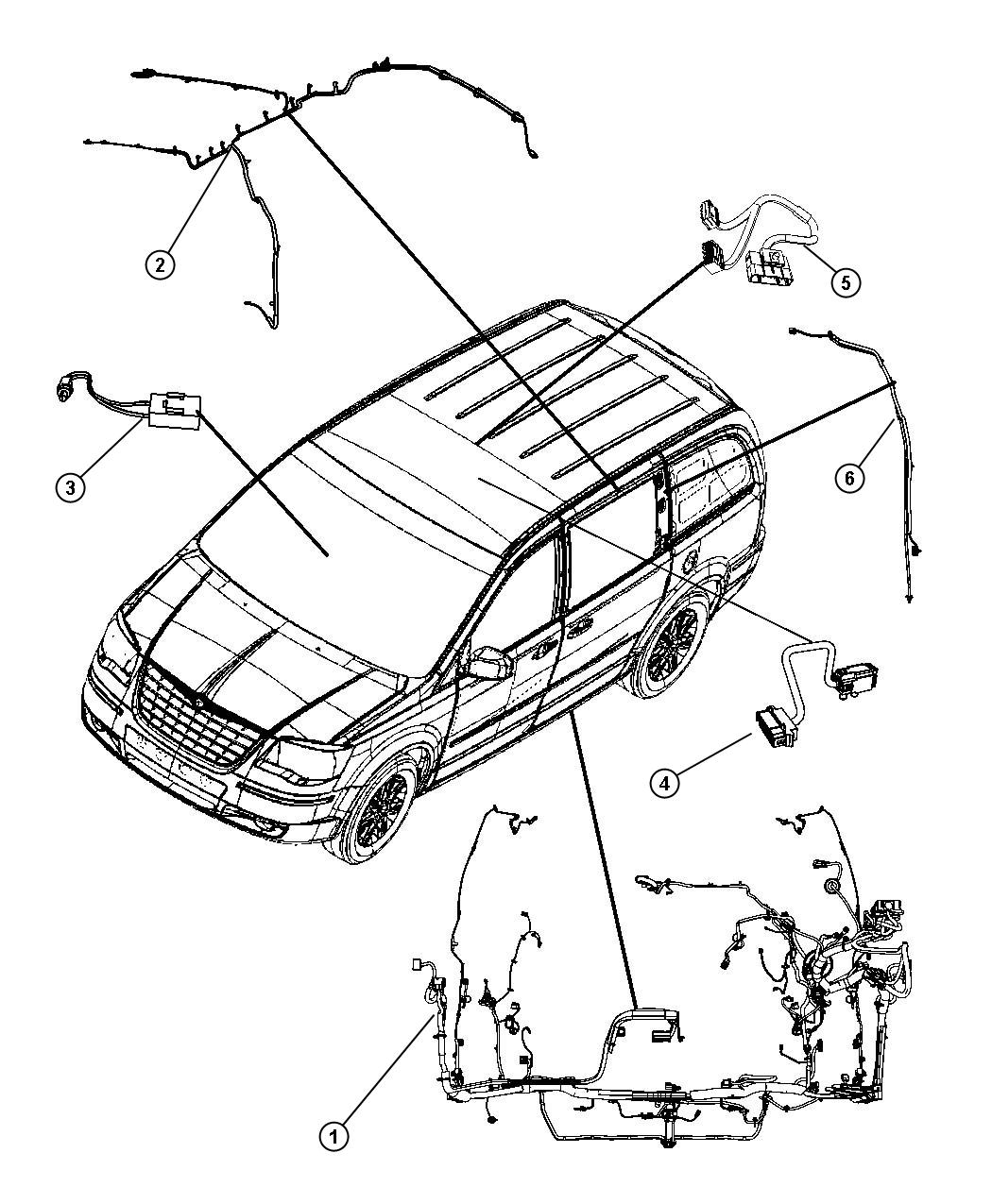Dodge Grand Caravan Wiring Body Upper