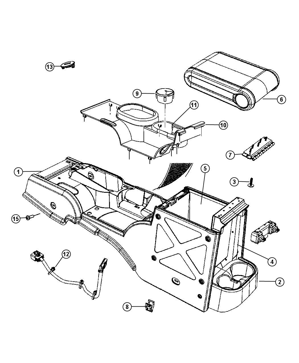Jeep Wrangler Clip Console Automatic Transmission