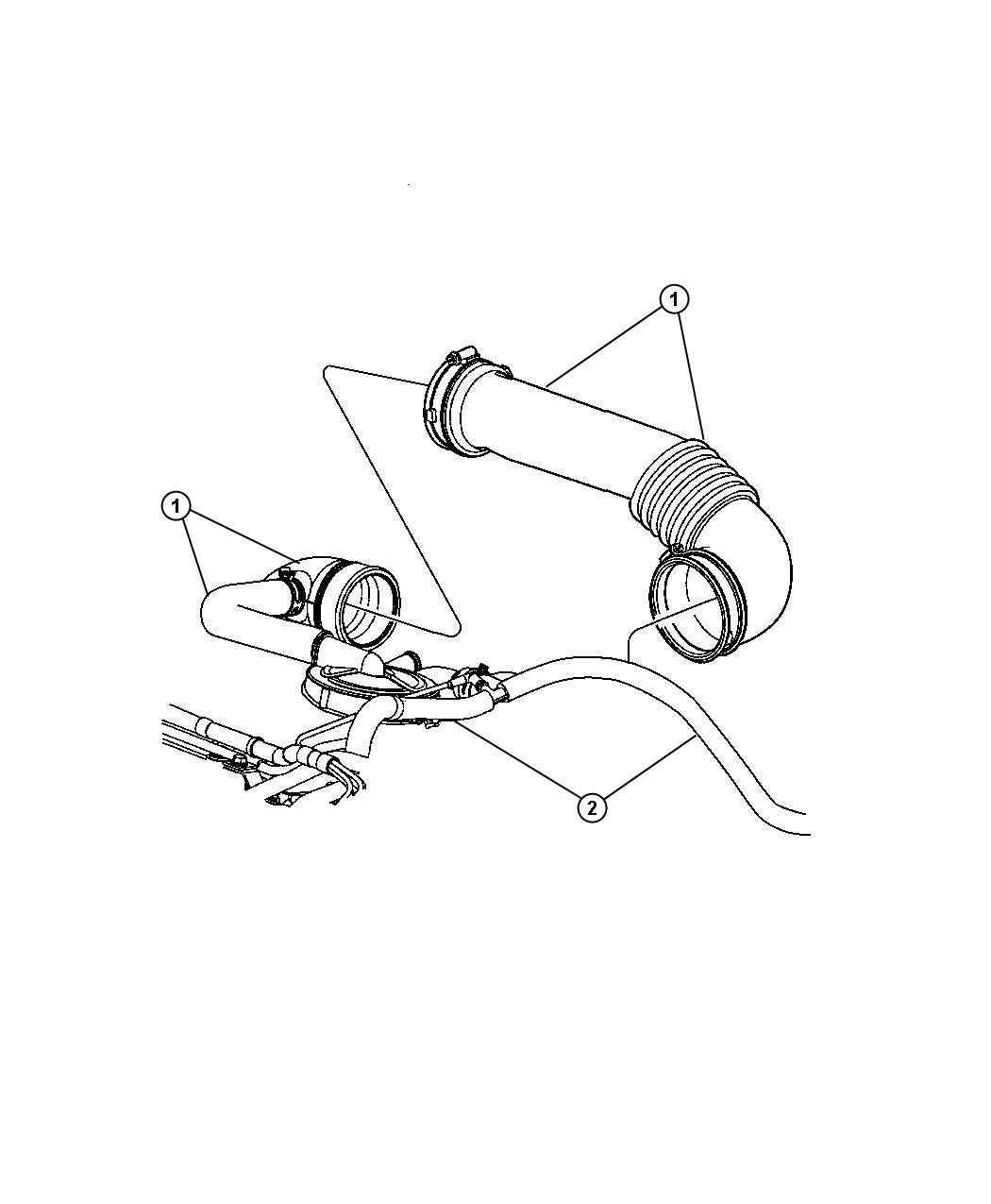 Jeep Patriot Hose Brake Booster Vacuum Vacuum Supply