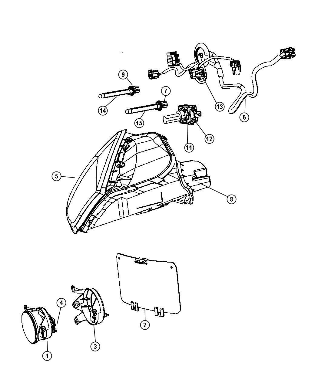 Dodge Viper Wiring Headlamp Jumper Left High Intensity