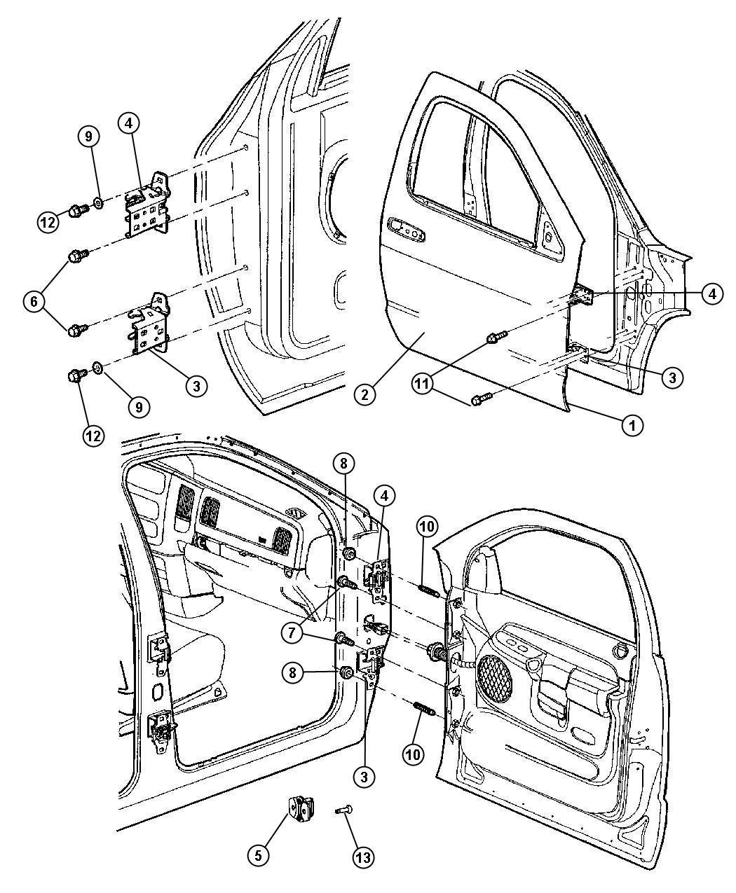 Dodge Dakota Hinge Door Left Upper Left