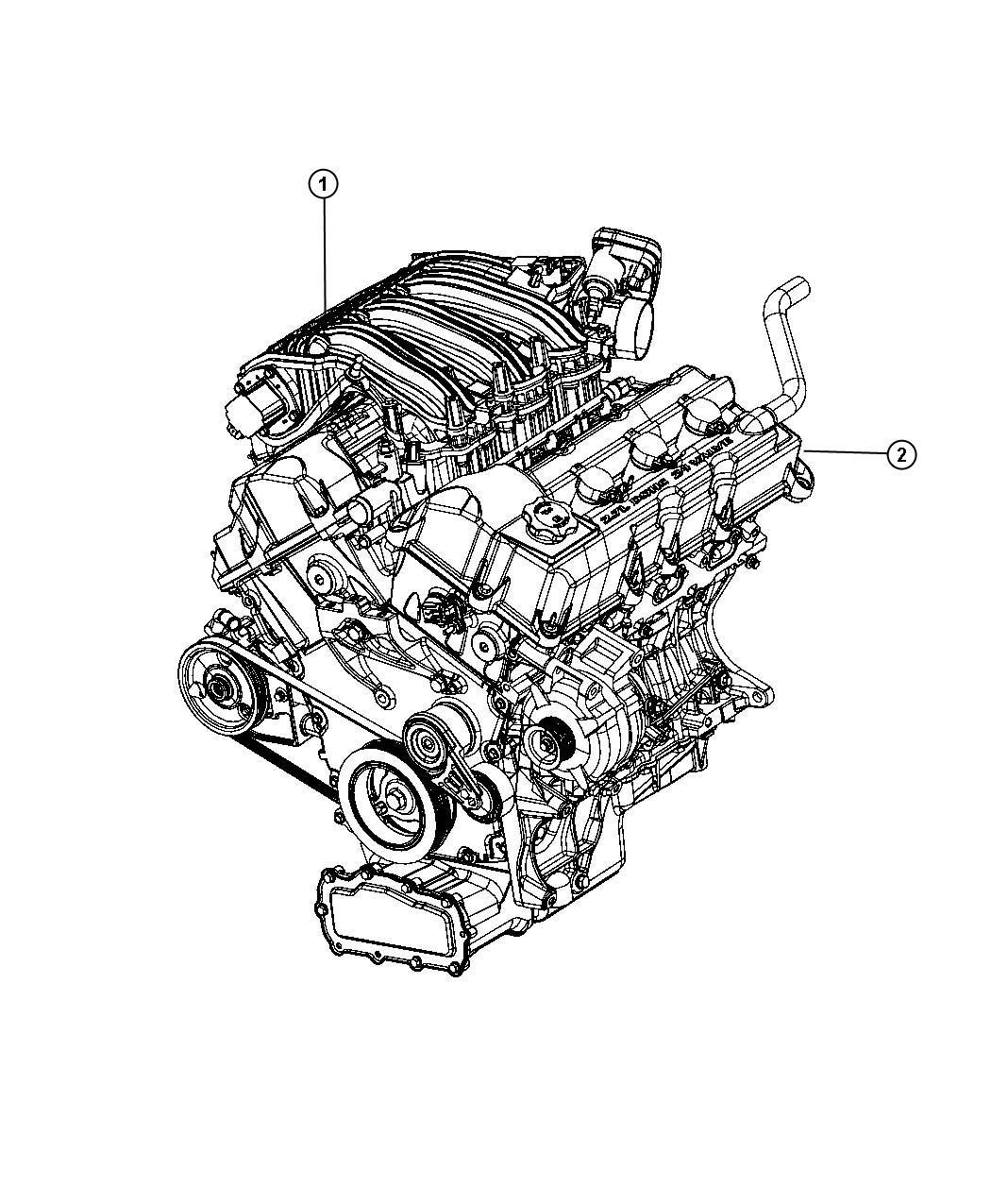 Dodge Charger Base 2 7l V6 Engine Long Block
