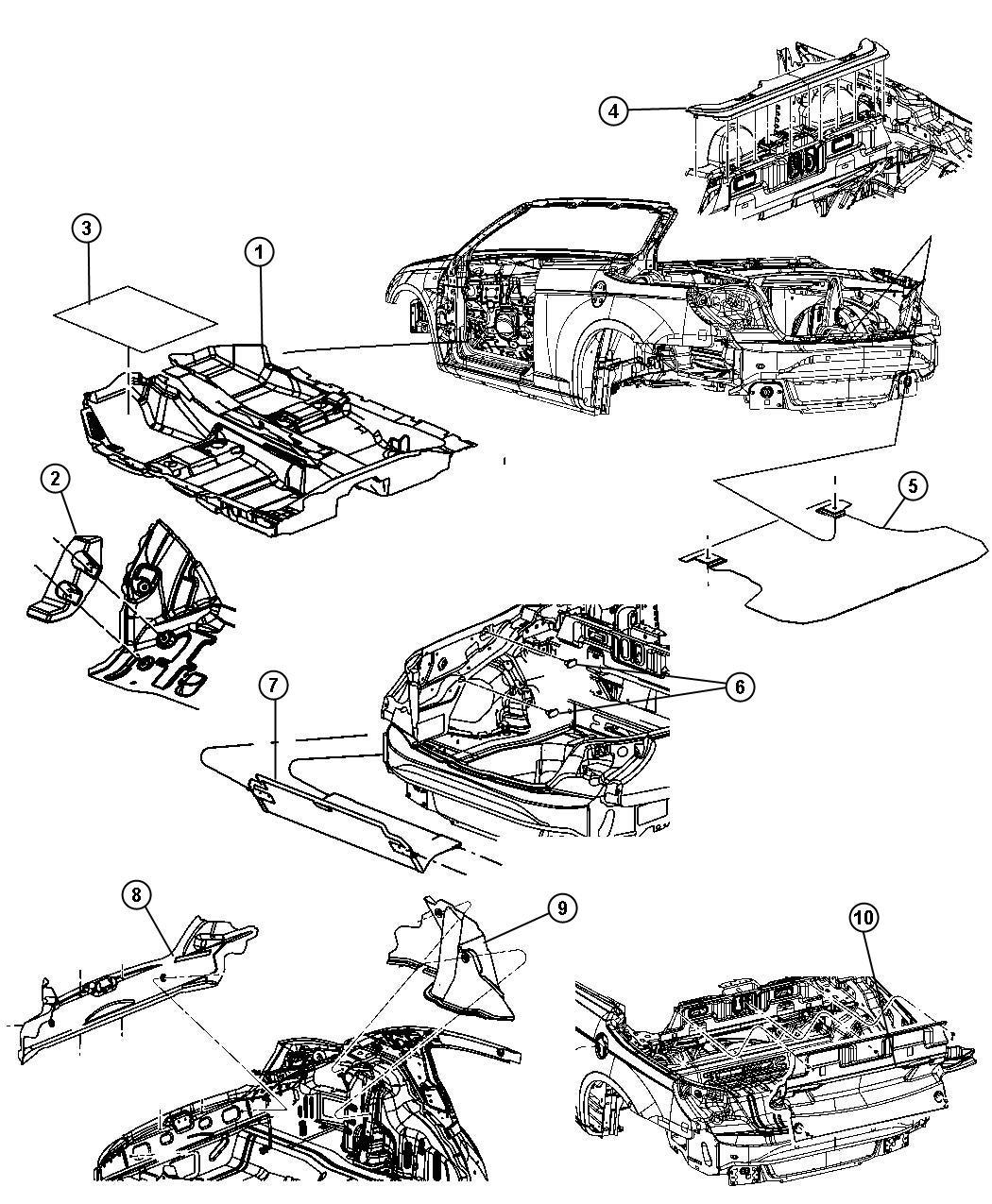 Chrysler Sebring Mat Kit Floor J1 Trim All Trim
