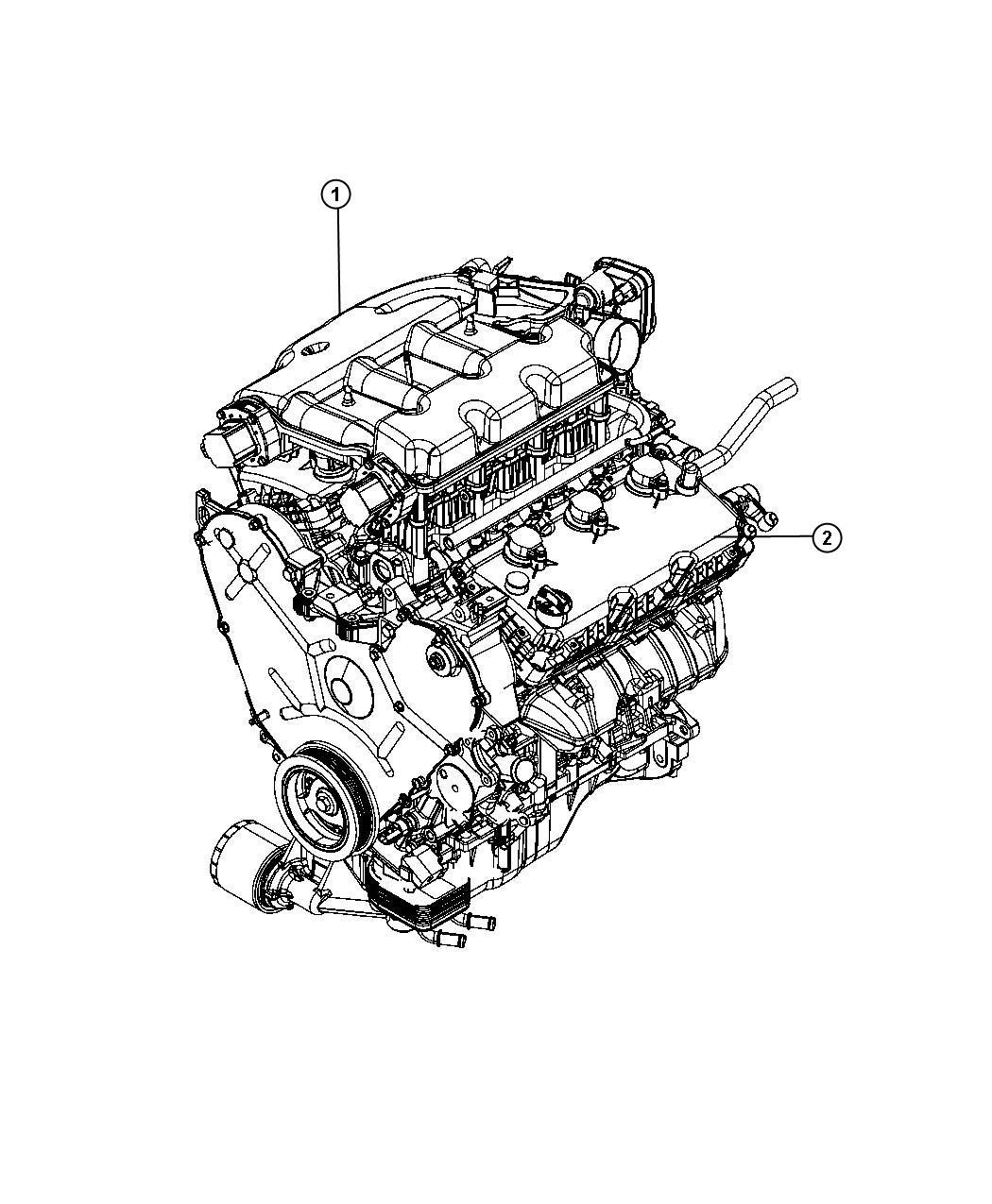 Sebring Engine Assembly And Service Long Block 3 5l 3 5l