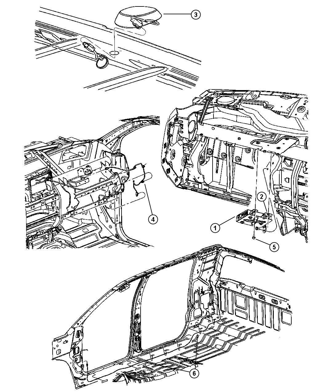 Dodge Ram Wiring Radio Satellite Antenna Jumper