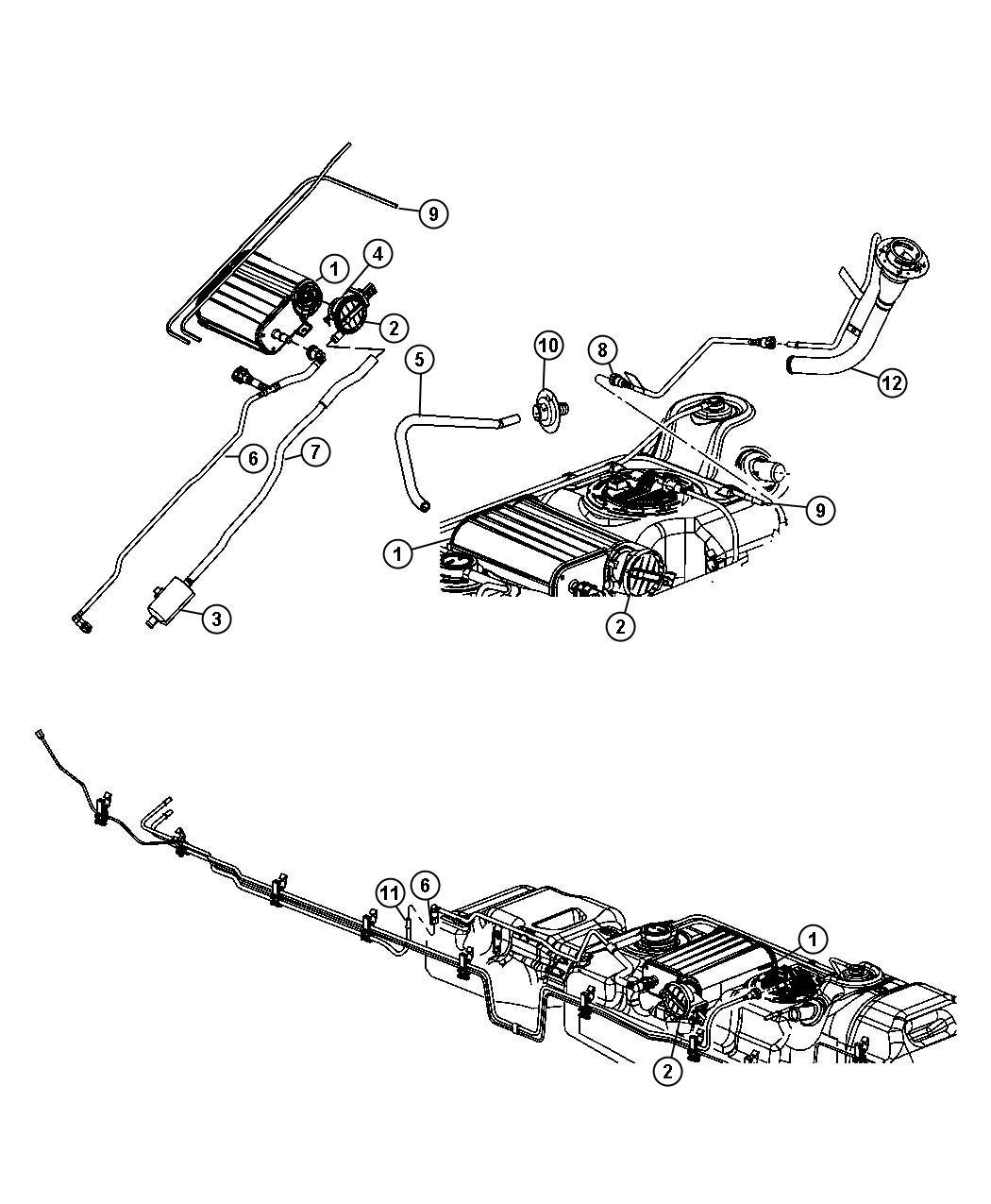 Dodge Dakota Detector Evaporative System Integrity Module